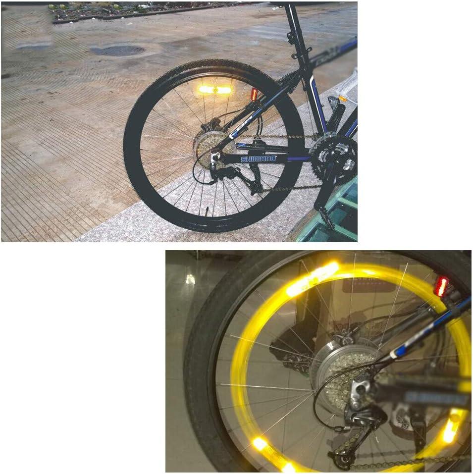 MTB Bicicleta De Carretera Tira Reflectante Advertencia De Seguridad para Ciclismo De Monta/ña Decoraci/ón De Bicicleta De Carretera 10 Piezas Reflectores De Rueda De Bicicleta