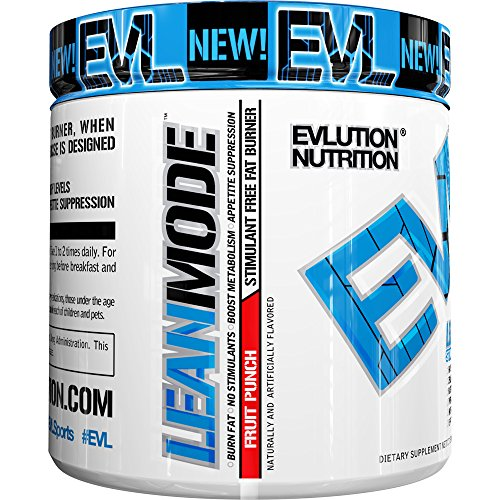 Evlution Nutrition Lean Mode Stimulant-Free Weight Loss Supplement with Garcinia Cambogia, CLA and Green Tea Leaf extract (30 Serving, Fruit Punch)