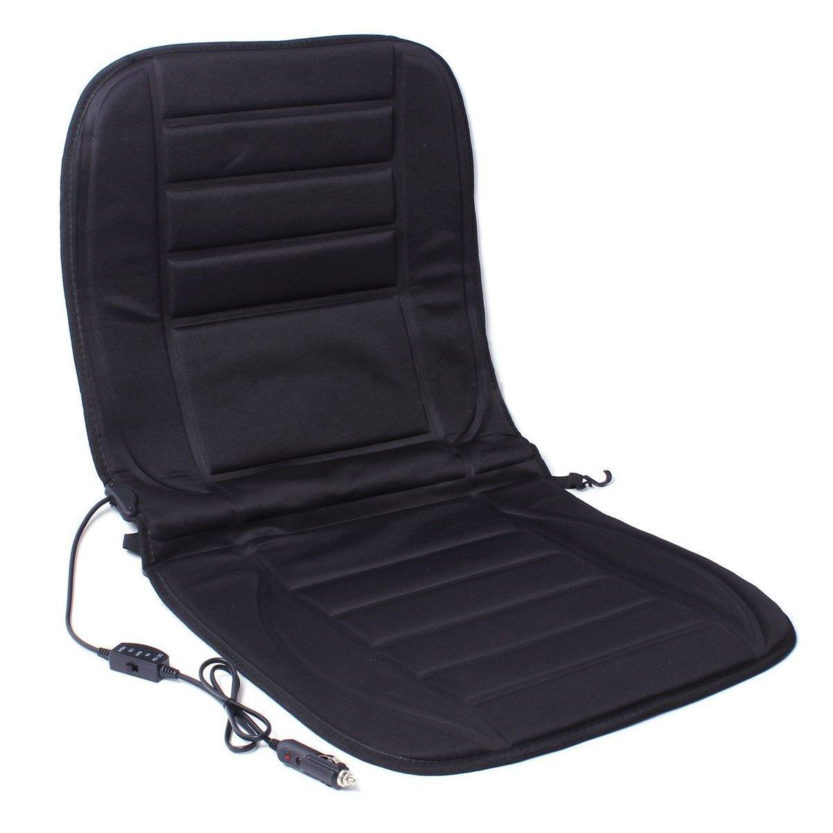 Coussin chauffant de voiture - SODIAL(R) 12V Siege avant de voiture tampon Coussin chauffant Coussin chaud Noir