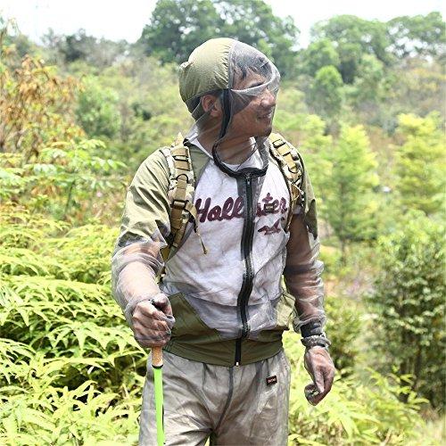 Confezione da 3 Insetto Zanzara Repellente Campeggio Estero Rete Net Midge Bee Insetto Visibile Leggero Top Pantaloni Mittens Suit Cappotto Abbigliamento Giacca Cappotto Guanti Pantaloni Outfit