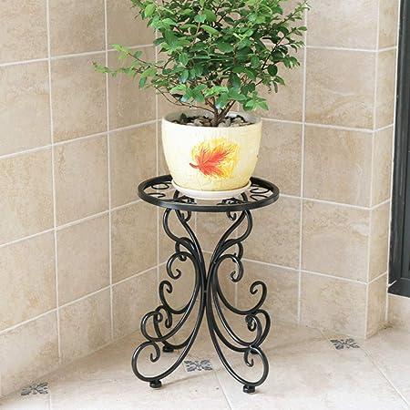 ZGYQGOO Planta, Metal, macetero Soporte Flores Decoración jardín ...