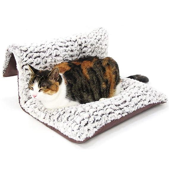 GCHOME Cama de Perro Cama del radiador del Perro del Gato, Cama desprendible Lavable Suave del Gato Cama del Gato, Cama Fuerte y Durable de la Mascota de la ...