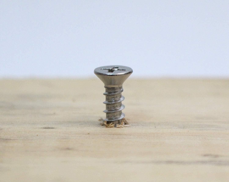 Accessoires /électroniques /à Vis M/écanique Outils Petites Pi/èces /à Vis 500PCS 2 Vis /à T/ête Plate Autotaraudeuse DIY Vis /à Bois en Bois Mat/ériel de Fixation 8mm Bronze