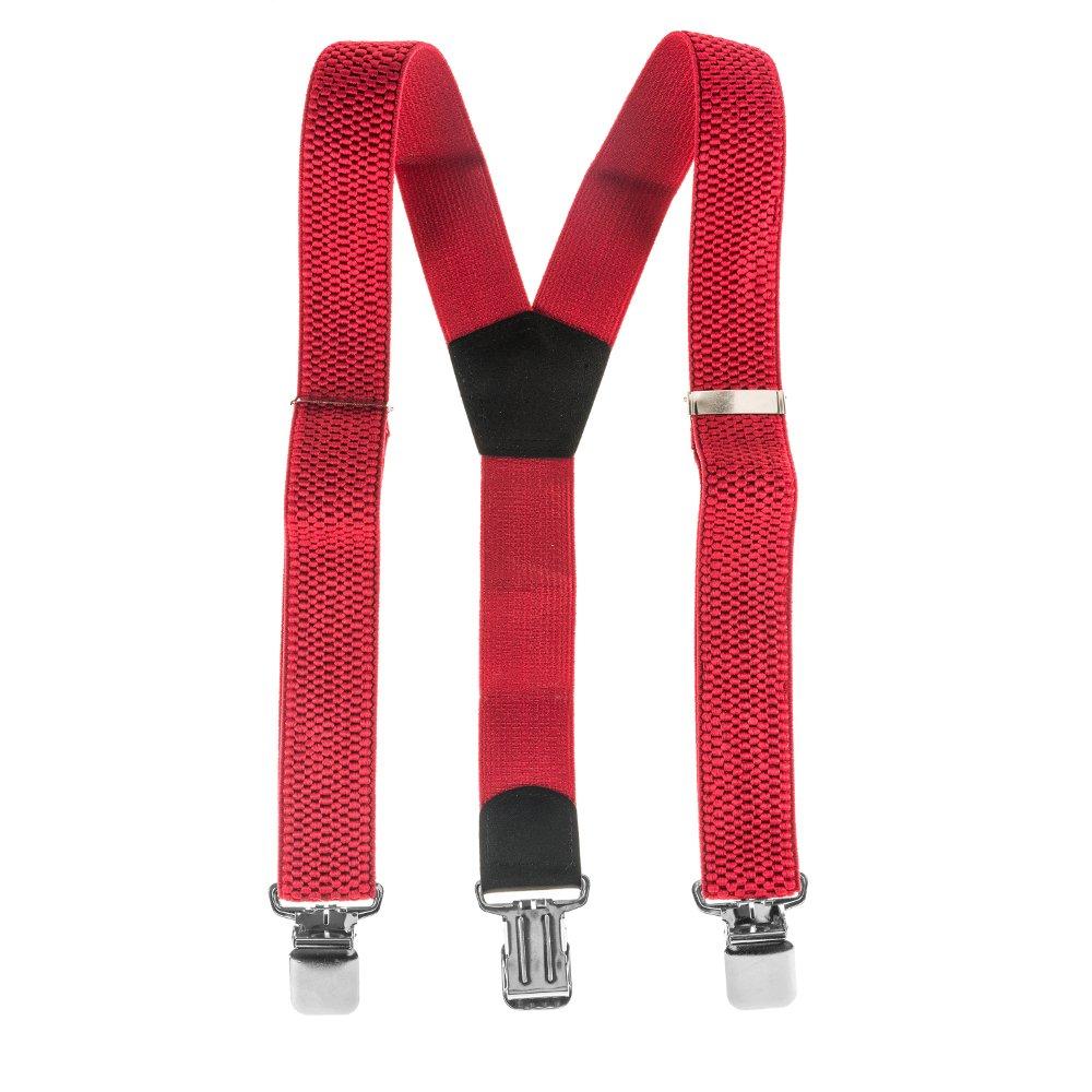 ASVP Shop® bretelles réglables Pantalon Unisexe bretelles élastiques à clips dos Y ClipOn