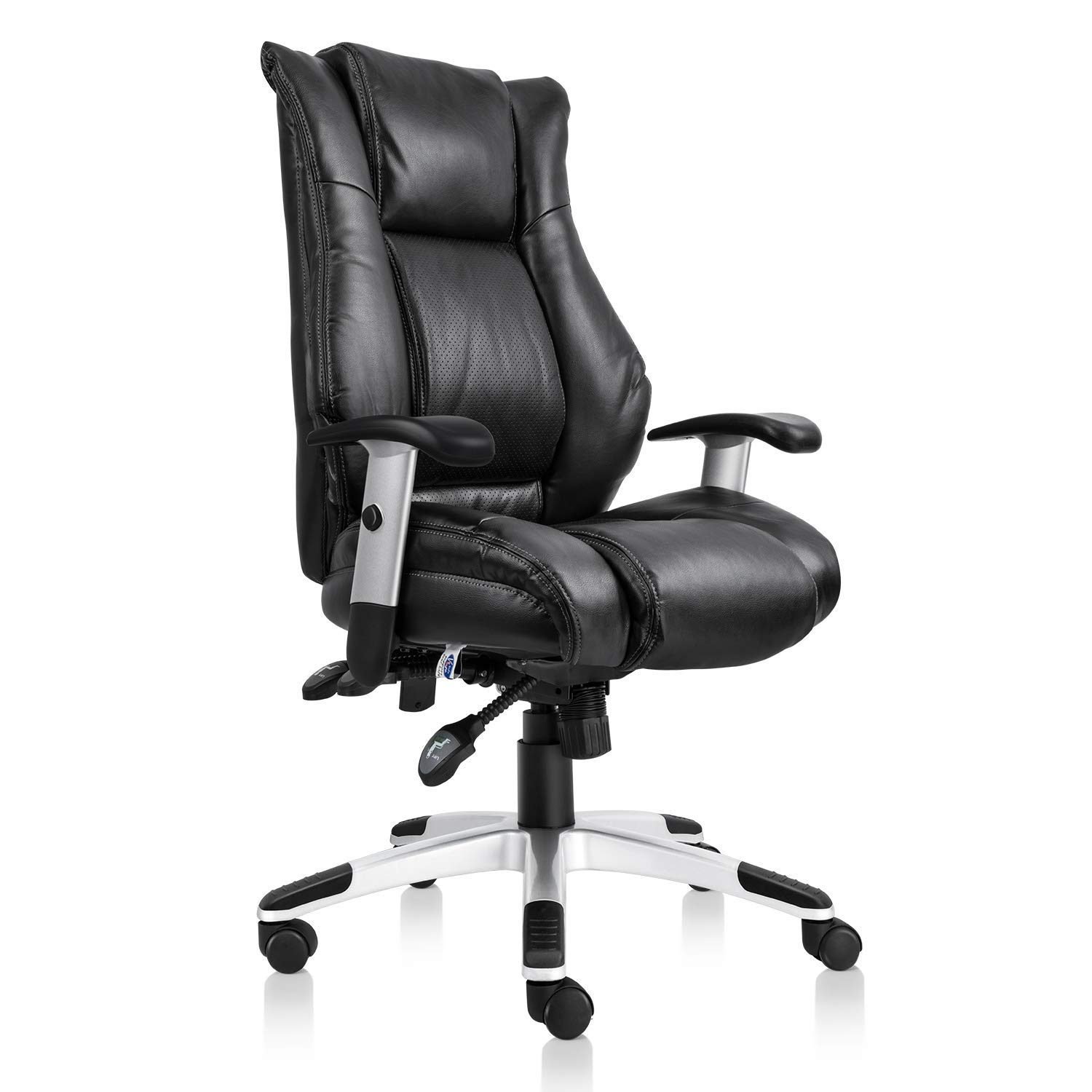 Smugdesk Ergonomic Office Chair Lumbar Support Mesh Chair Computer Swivel Task Chair with Adjustable Armrests, Black