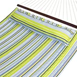 Best Choice Products SKY1408 Hammock Quilted Fabric with Pillow Double Size Spreader Bar Heavy Duty