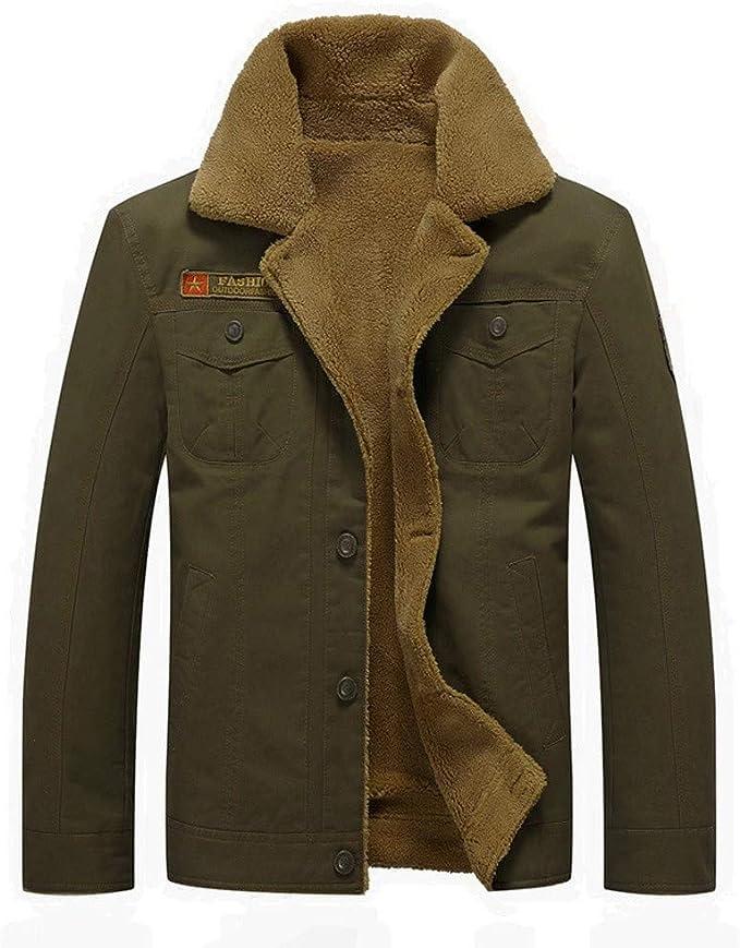 DORIC Mens Mens Warm Plus Thickening Long Coat Jacket Faux Fur Parka Outwear Cardigan XXX-Large