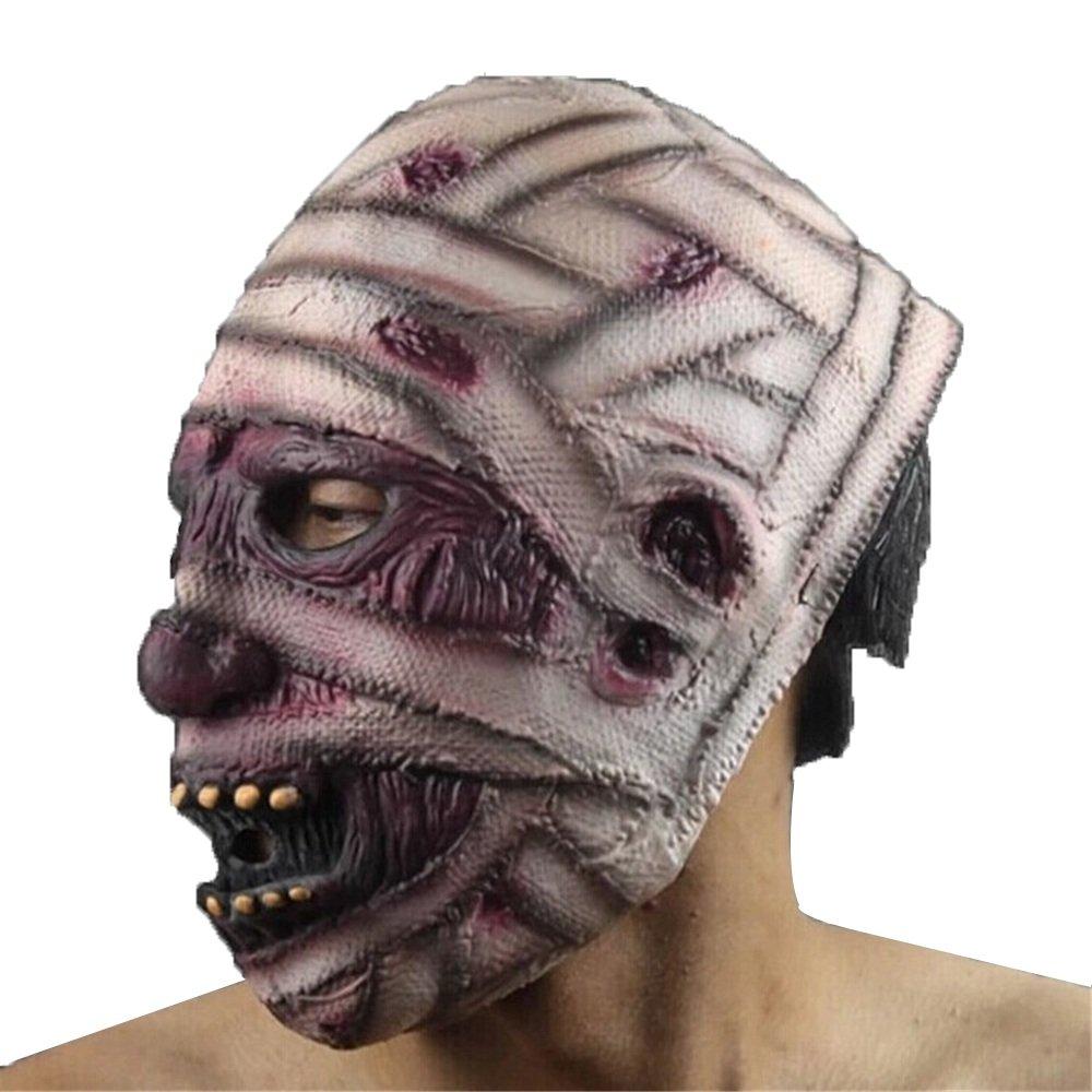 HBWJSH Halloween Horror Maske Grün Latex Maske Prom Prom Prom Maske Teufel/Mummy / Grimasse 10657a