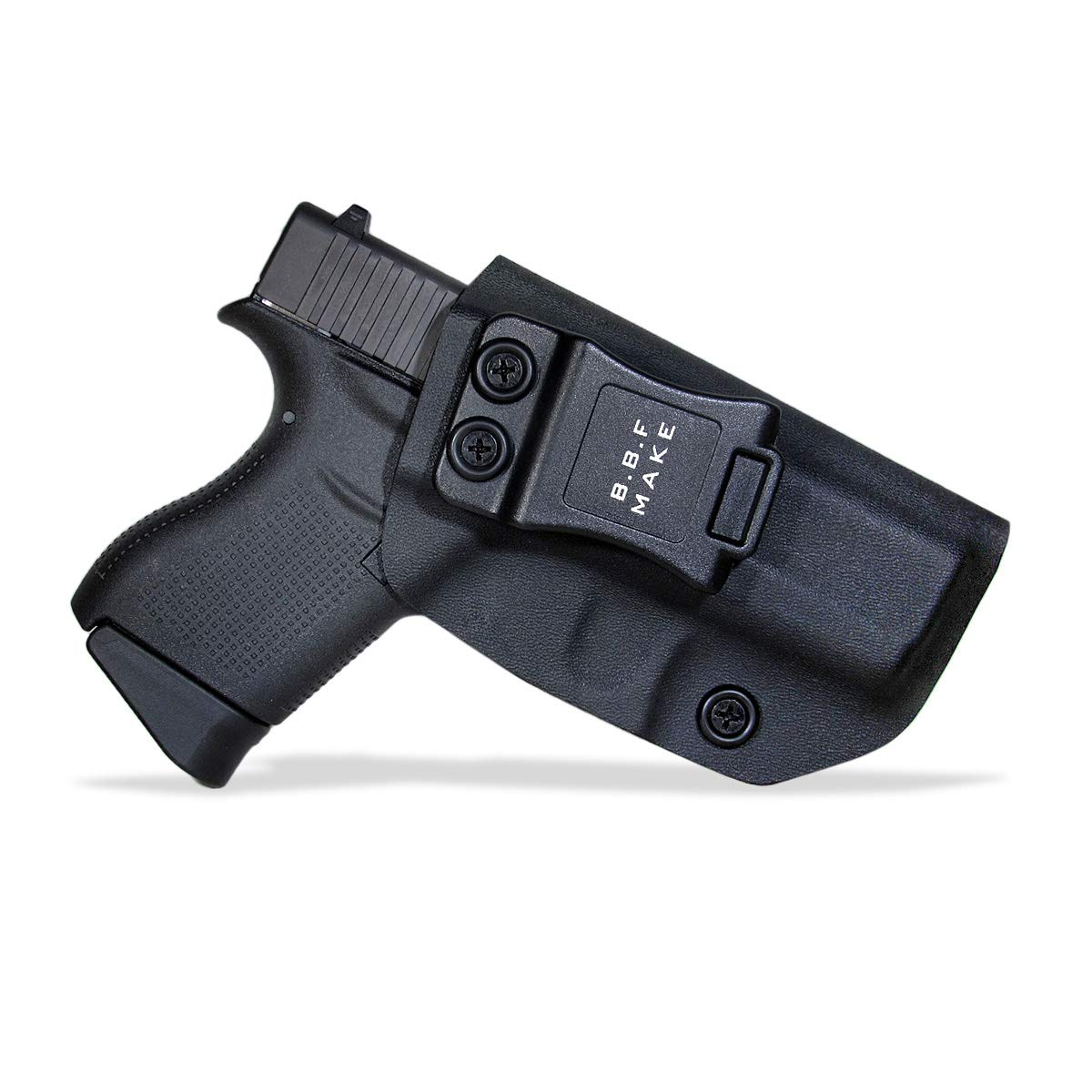 B.B.F Make IWB KYDEX Holster Fit: Glock 43/43X | Retired Navy Owned Company | Inside Waistband | Adjustable Cant (Black, Left Hand Draw (IWB)) by B.B.F Make