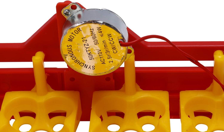 SNOWINSPRING 1 Incubadora Manual 24 Bandejas de Huevos Motor 110V Incubadora de Aves de Granja Opcional
