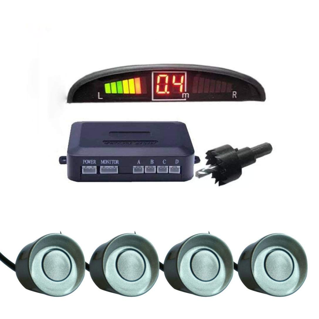 Sonmer Car Reversing Parking Radar Sensor, With 4 Sensors Audio Buzzer Sound Alarm (Gray) by Sonmer (Image #1)