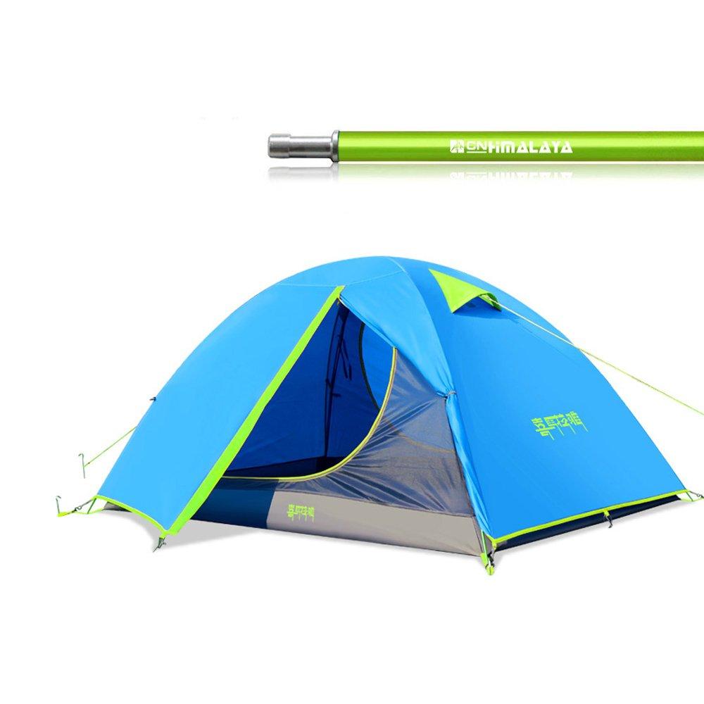 Tentock Ultraleichtes Camping-Zelt Outdoor Winddicht regendicht doppellagig für 2 3 Personen Blau Grün