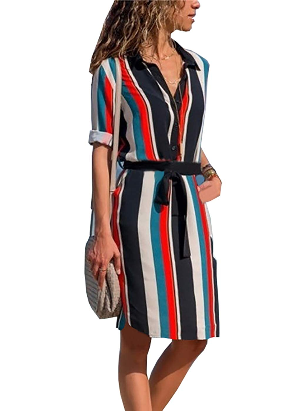 f9cb43968d7 Top 10 wholesale Belted Midi Shirt Dress - Chinabrands.com