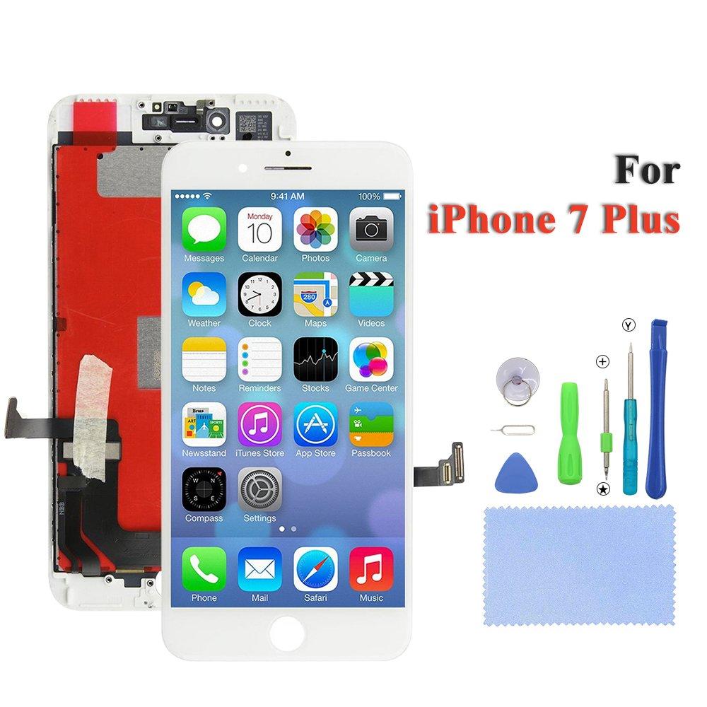 SpeS - Pantalla LCD de repuesto para Apple iPhone 7 Plus en blanco ...