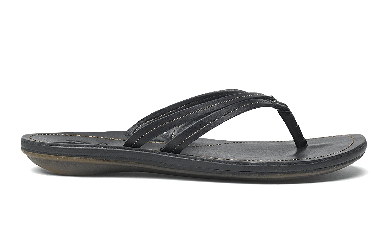 OLUKAI U'I Sandals - Women's B00L2FTJNG 6 B(M) US|Black
