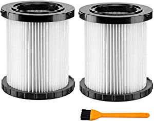 DCV5801H Hepa Replacement Filter Compatible for DeWalt DCV580 & DCV581H Wet Dry Vacuum Pack of 2