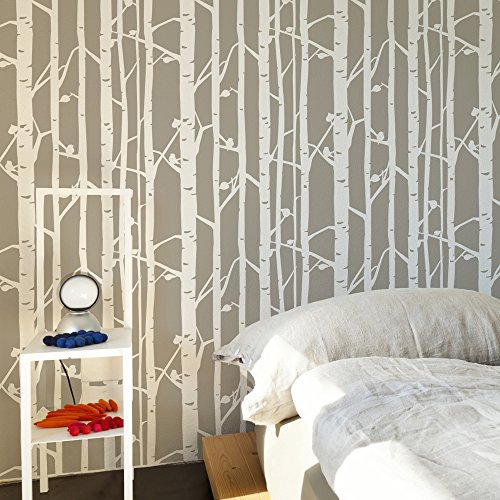 birch-forest-wall-stencil-for-painting-expedited-3-days-delivery-scandinavian-wall-accent-reusable-t