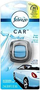 Febreze Car Vent Clip Air Freshener, Linen & Sky 1 ea (Pack of 3)