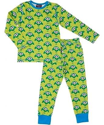 maxomorra Pijama Pijama Tractor Tractor turquesa Joven GOTS algodón orgánico verde