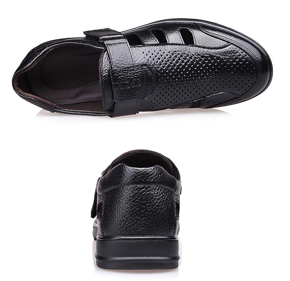 4d946ec10d6b RESPEEDIME Summer Men s Leather Hollow Sandals Hole Breathable Casual Dad  Cool Shoes  Amazon.co.uk  Shoes   Bags