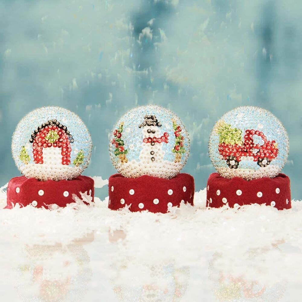 Sunrise Craft /& Hobby Country Snow Globe Ornament Kit