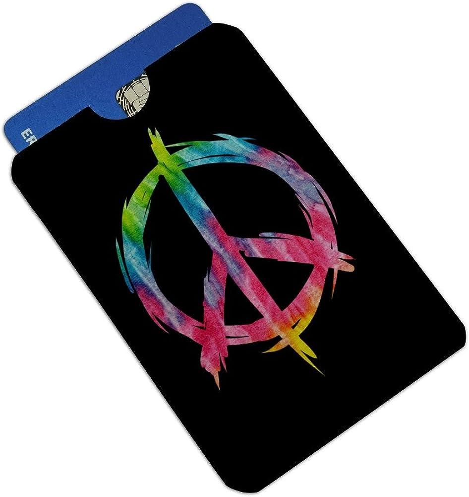 Tie Dye Peace Sign Credit Card RFID Blocker Holder Protector Wallet Purse Sleeves Set of 4