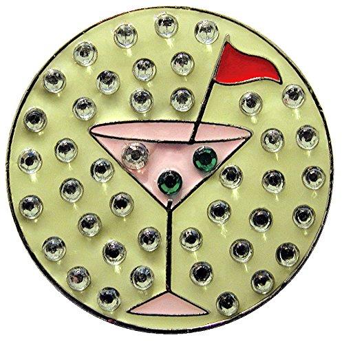 ピンクMartiniボールマーカーでアクセント本革スワロフスキークリスタルの磁気ハットクリップ   B0051QW1Z0