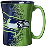 Change up your morning routine with Boelter Brands NFL Mocha Mug. Each unique sculpted mocha mug holds up to 14-ounces of your favorite hot beverage. It is decorated with splatter-like appearance and colorful team graphics. Microwave and dish...