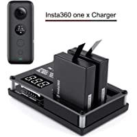 elegantstunning 3in1 Micro USB Battery Charger for Insta360 ONE X Panoramic Camera 60mins Fast Charging for Powerbank Battery Rechargable As Shown
