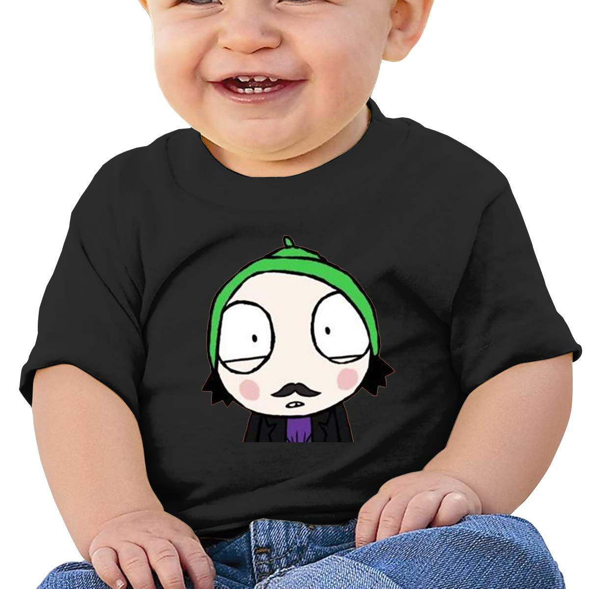 DONGLY 6-24 Month Baby T-Shirt Sarah /& Duck Nordic Winter Personality Wild Black