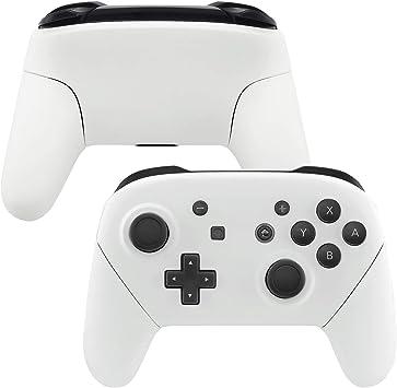eXtremeRate Carcasa Agarre para Nintendo Switch Pro Funda Delantera Trasera Asa Shell de Tacto Suave Grip de reemplazo para Controlador Nintendo Switch Pro-No Incluye el Mando (Blanco): Amazon.es: Electrónica