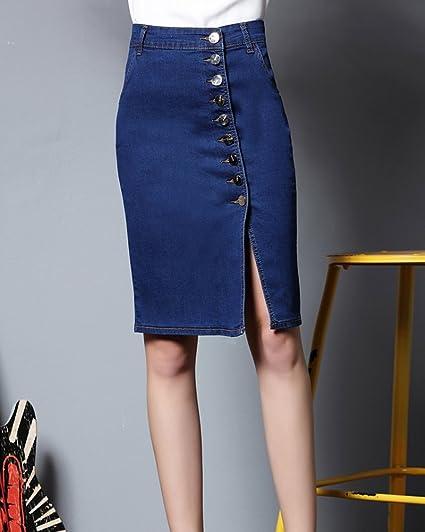 a066d4b3d10 Kasen Femme Denim Jupe Jeans Stretch d Été Retro Mini-Jupe Taille Haute  Court Jupe  Amazon.fr  Vêtements et accessoires