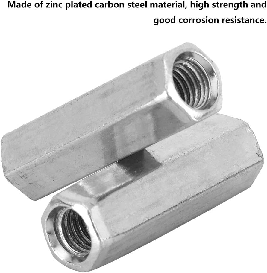 8mm A2 STAINLESS STEEL THREADED BAR CONNECTOR DEEP NUT 24MM LONG M8-8MM