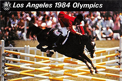 Equestrian Events, Los Angeles 1984 Olympics Old Vintage Track & Field Postcard Post Card