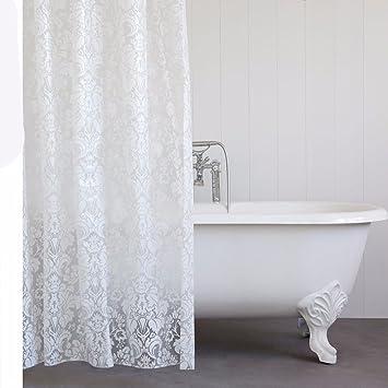 Duschvorhang Für Badewanne sursy hochwertige weiße damast duschvorhang badewanne vorhang