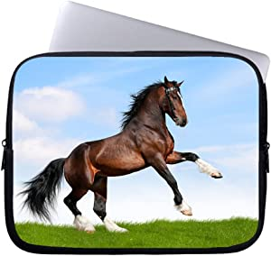 "Neafts Horse Waterproof Neoprene Soft Sleeve Case for MacBook 12 Inch & MacBook Air 11.6 Inch and Laptop up to 12"" Ultrabook, Chromebook Bag Cover"