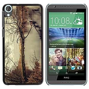 EJOY---Cubierta de la caja de protección la piel dura para el / HTC Desire 820 / --Árbol del otoño
