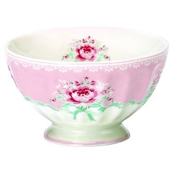 Greengate Bowl Schälchen Schale Schüssel Marley Pale Pink Porzellan Vintage