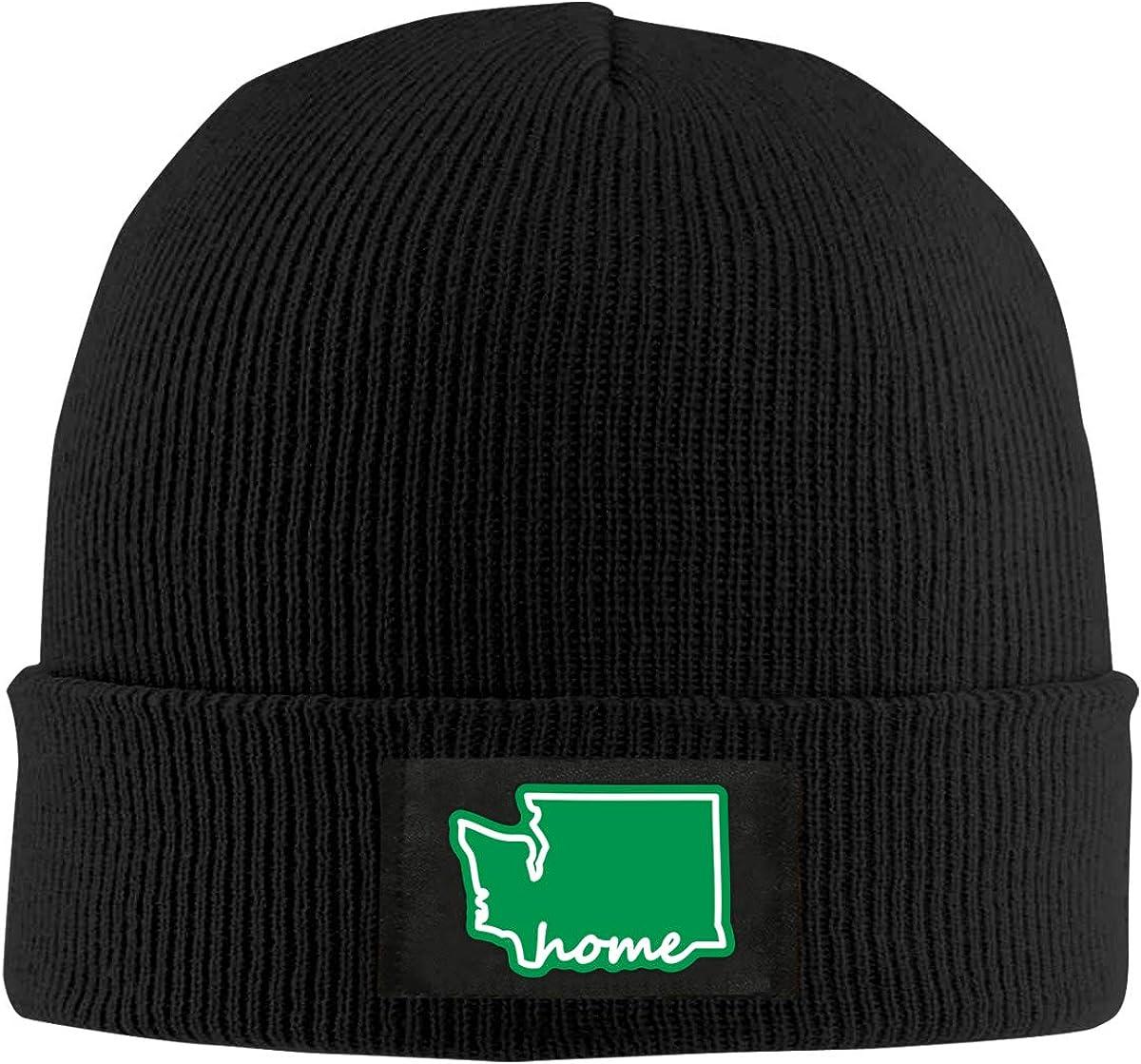 Men Women Washington State Home Skull Hat Beanie Cap Winter Knit Hat Cap