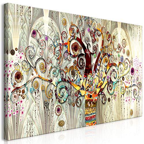 murando Cuadro en Lienzo Gustav Klimt 120x60 cm - 1 Parte Impresion en Material Tejido no Tejido Impresion Artistica Imagen Grafica Decoracion de Pared Arbol Piedras Arte l-A-0033-b-a