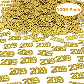 2019 Gold Confetti – Graduation Party Suppli...