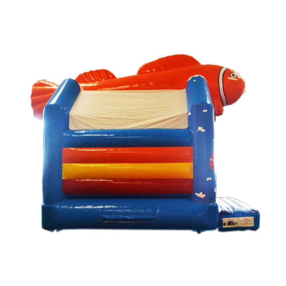 sunjoy sea world inflatable air obstacle bouncy castle game toys with slide amazoncouk toys u0026 games