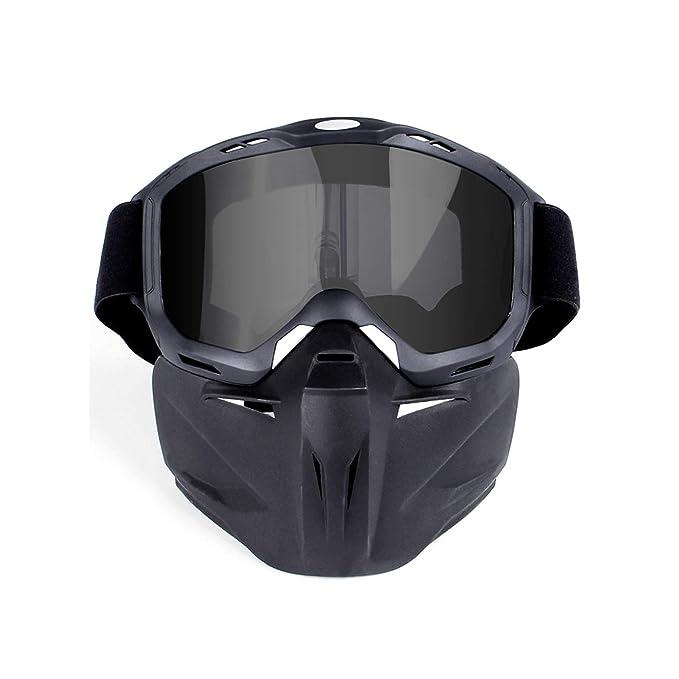 46a0b58895 AnazoZ Gafas Protectoras Deporte Gafas de Máscara Gafas Protectoras Viento  Gafas de Moto Gafas de Casco Gafas de Montar Gafas Protectoras Gafas Gris  Lentes: ...