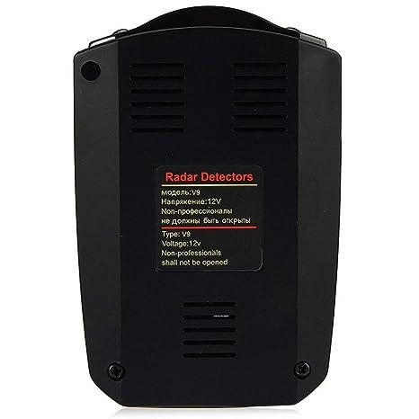 Longzhuo V9 Auto Radar Velocidad Cuchillo Lazer 360 ° Voice Alert Velocidad móvil Velocímetro electrónico Perro: Amazon.es: Coche y moto