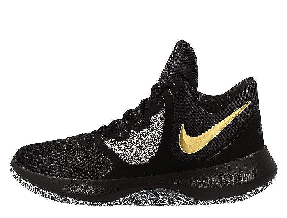 schwarz, Dorado, Metálico, Weiß (schwarz Metallic Gold-Weiß) Nike Classic Fleece Crew – Sudadera