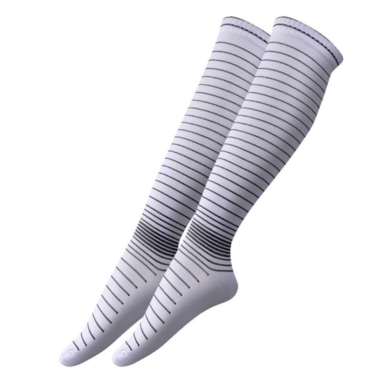 Mens Elastic Compression Long Socks Warm Breathable Anti Slip Casual Socks HX022,Fluorescent Green,L