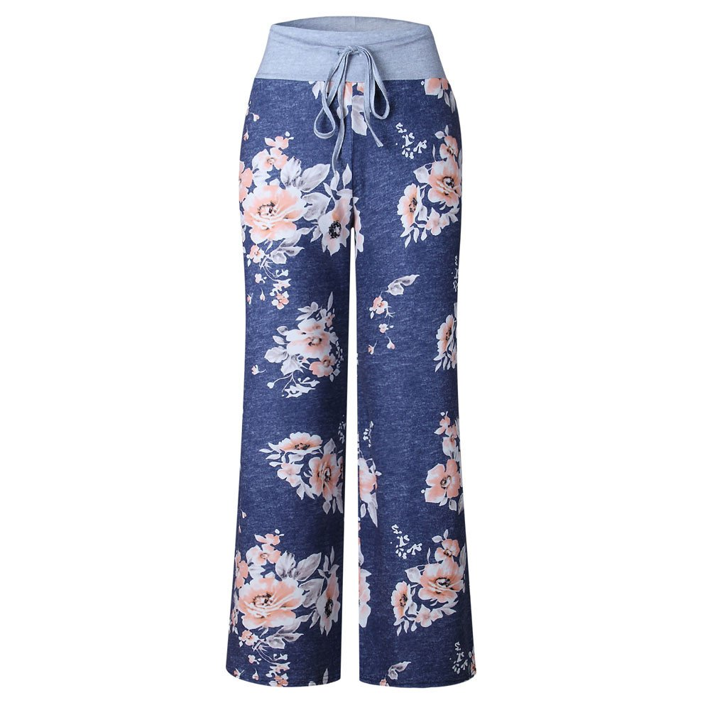 Cinnamou Pantalón Ancho de Flores para Mujer 04e2b24449b7