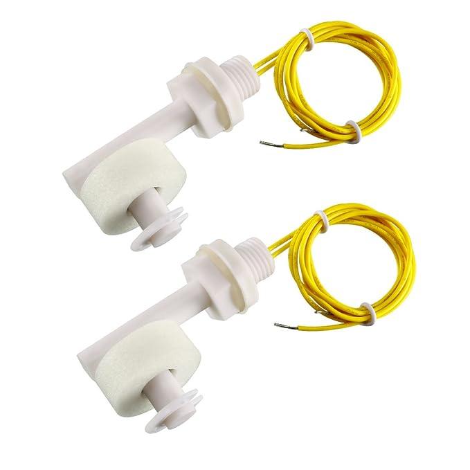 2stk Schwimmerschalter Füllstandsschalter Pegelschalter Niveauschalter Sensor DE