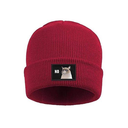 2922e99f8f8 Amazon.com  Man Funny Grumpy cat no Wool Beanie Cap Winter Hats ...