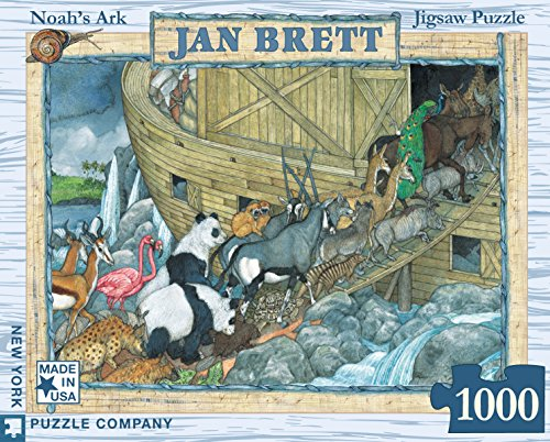 New York Puzzle Company - Jan Brett Noah's Ark - 1000 Piece Jigsaw Puzzle